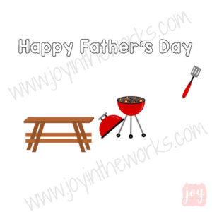 BBQ Themed Father's Day Story Card