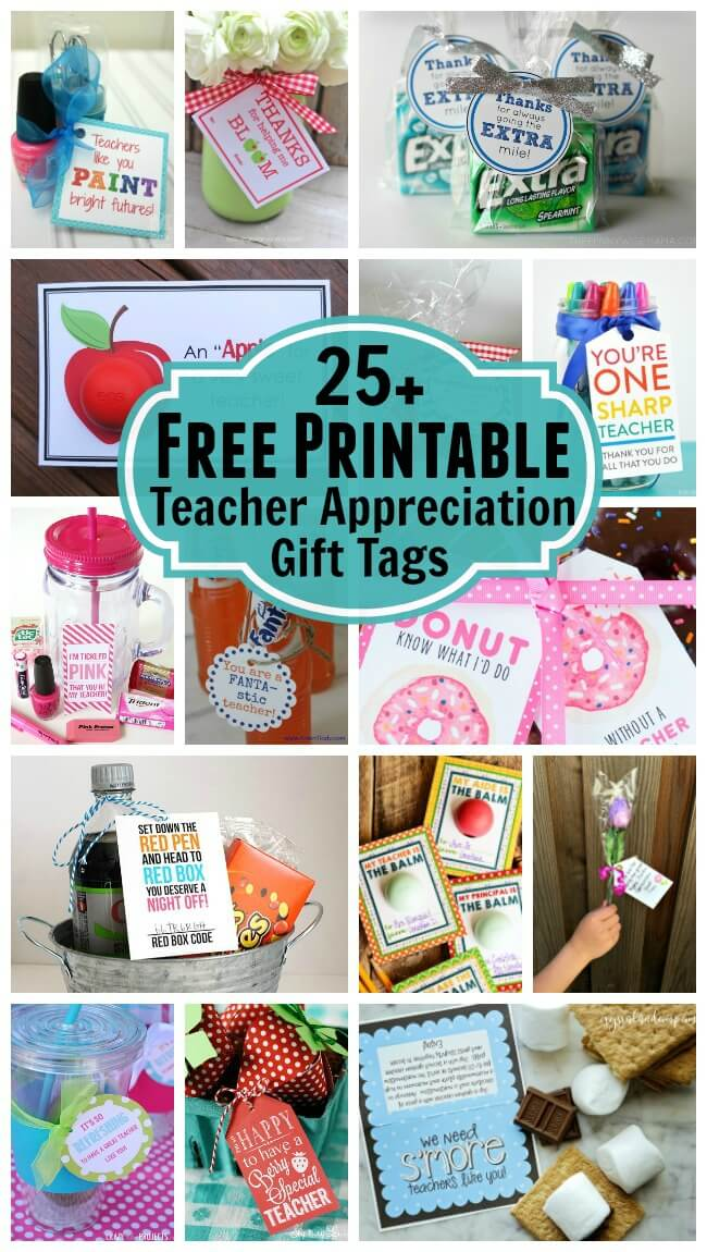 This is a photo of Free Printable Teacher Appreciation Tags for thank you