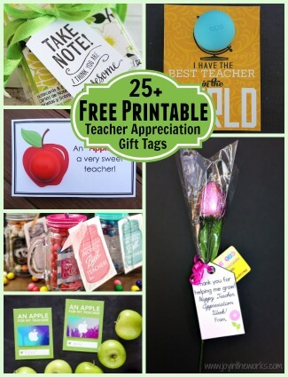 picture about Free Printable Teacher Gift Tags referred to as 25+ Cost-free Printable Instructor Appreciation Present Tags - Contentment inside of