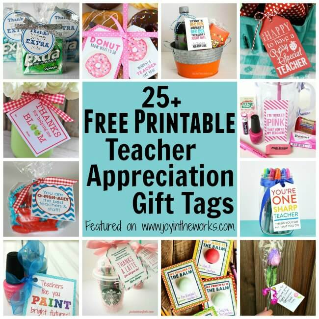 image relating to Free Printable Teacher Appreciation Tags named 25+ Cost-free Printable Instructor Appreciation Present Tags - Happiness in just