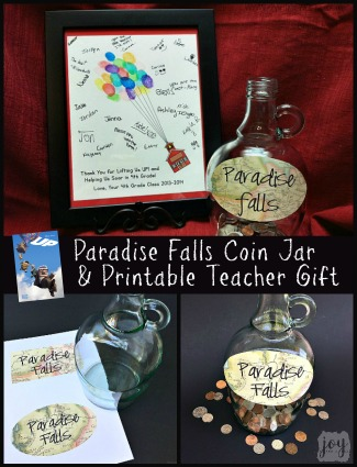 UP Paradise Falls Coin Jar and UP Balloon Card
