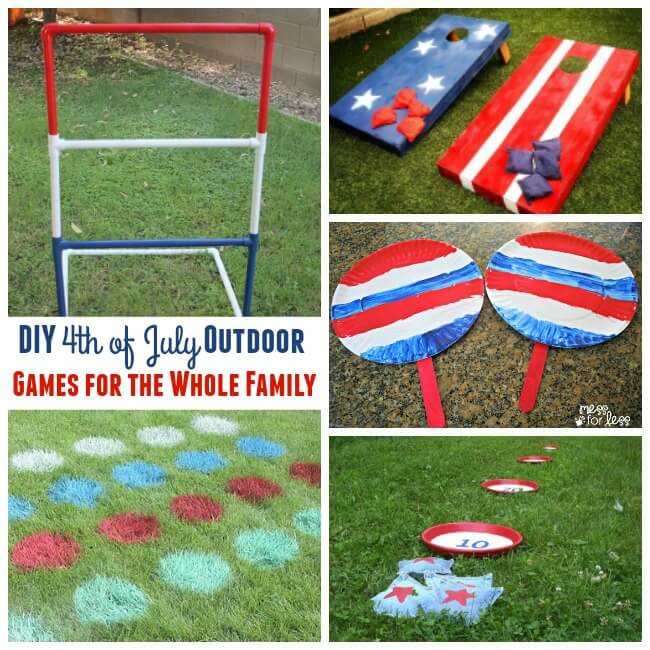 4th of July is made for good old fashioned family fun! Check out these DIY 4th of July games that the whole family will love!