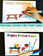 Printable Father's Day Story Cards