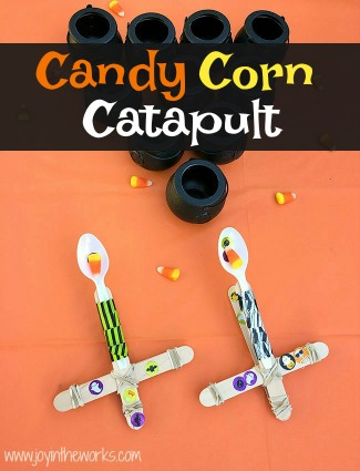 Candy Corn Catapult for Halloween
