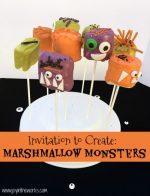 Marshmallow Monsters Halloween Treats
