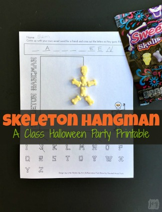 Skeleton Hangman: A Printable Halloween Party Game