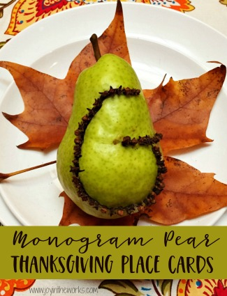 Pear Monogram Place Cards