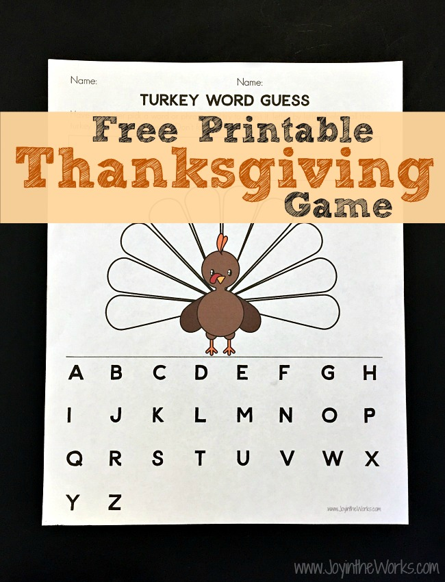 picture relating to Free Printable Thanksgiving Games for Adults referred to as Turkey Term Wager: A Printable Thanksgiving Activity - Pleasure inside