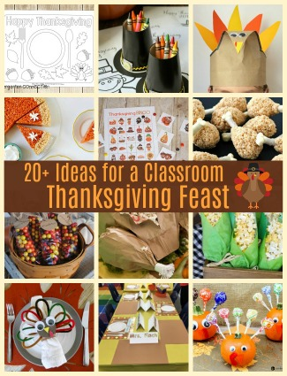 20+ Ideas for a Classroom Thanksgiving Feast