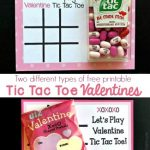 2 Printable Versions of Tic Tac Toe Valentine Cards