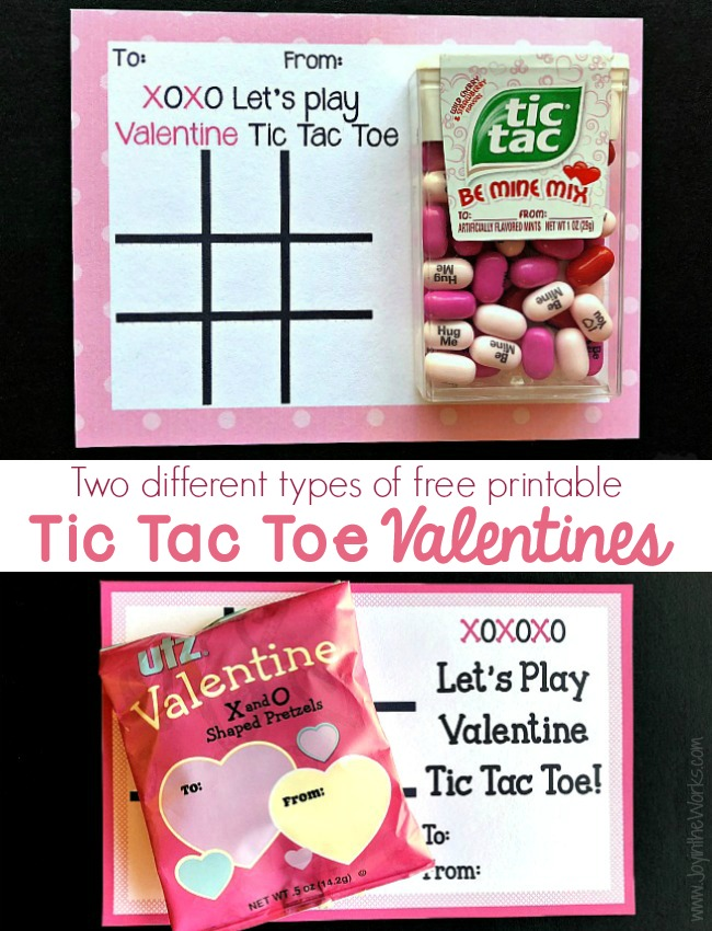 photograph relating to Printable Versions called 2 Printable Designs of Tic Tac Toe Valentine Playing cards - Happiness within just