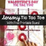 Valentine's Day Sensory Tic Tac Toe Game