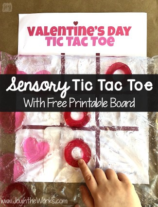 Valentine's Day Sensory Tic Tac Toe Game