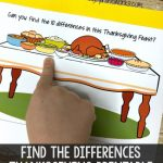 Find the Differences Thanksgiving Printable Game
