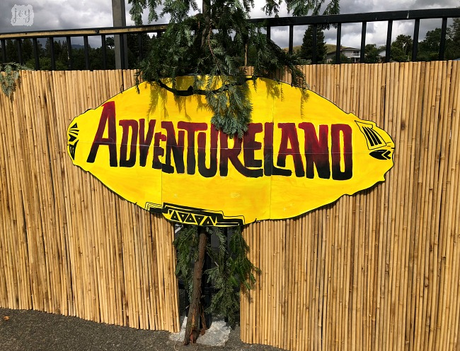 "The Adventureland sign as a part ""The Happiest School on Earth"" as we turned our school into Disneyland. You can create your own Disneyland too!"