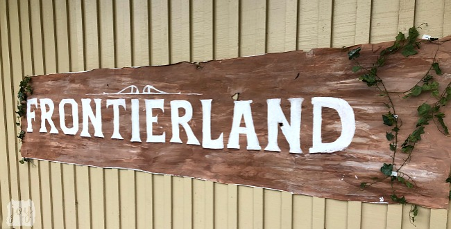 "The Frontierland sign as a part ""The Happiest School on Earth"" as we turned our school into Disneyland. You can create your own Disneyland too!"