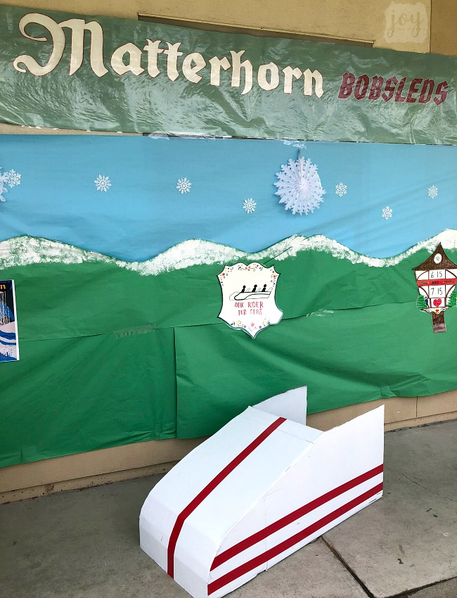 "The Matterhorn Bobsled replica as a part ""The Happiest School on Earth"" as we turned our school into Disneyland. You can create your own Disneyland too!"
