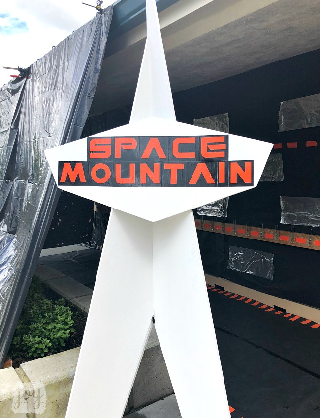 "The Space Mountain sign as a part ""The Happiest School on Earth"" as we turned our school into Disneyland. You can create your own Disneyland too!"