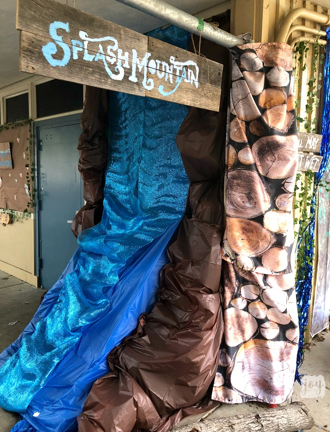 "The Splash Mountain sign and replica as a part ""The Happiest School on Earth"" as we turned our school into Disneyland. You can create your own Disneyland too!"