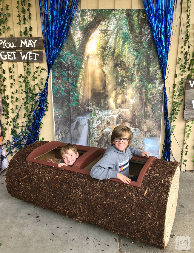 "A Log Ride replica from Splash Mountain as a part ""The Happiest School on Earth"" as we turned our school into Disneyland. You can create your own Disneyland too!"