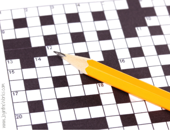 There are so many different types of word games you can play during a Virtual Halloween Party! (Like Halloween Crossword!)