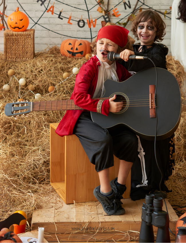 Sing Halloween Karaoke for one of your Virtual Halloween Party Activities for kids!