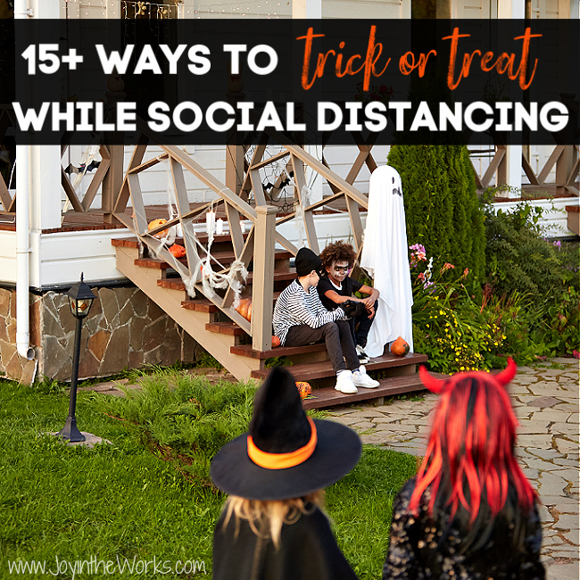 You can trick or treat safely during Covid-19 if you practice these simple social distancing tips and tricks. From candy chutes to setting up a table at the end of the driveway, there are also lots of creative ways to do no contact trick or treating.